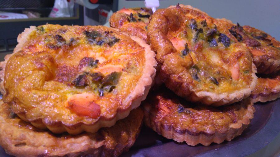 Tartelettes saumon épinards-poireaux - Boucherie de la Gare